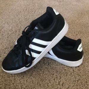 Adidas Cloudfoam Advantage black/white stripe